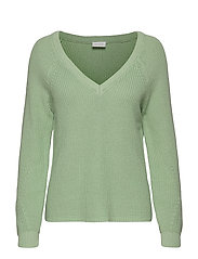 VIMYNTANI KNIT POINTELLE L/S TOP-NOOS - CAMEO GREEN