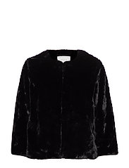 VIFOXY FAUX FUR JACKET - BLACK