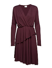 VIWANNA L/S DRESS - WINETASTING