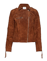 VICRIS SUEDE JACKET - NOOS - OAK BROWN