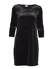 VISIENNA 3/4 SLEEVE DRESS/1 - BLACK