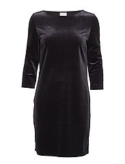 VISIENNA 3/4 SLEEVE DRESS/1 - DARK NAVY