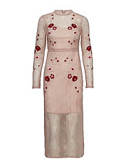VIBRODIA L/S ANKLE DRESS/ZA - ROSE SMOKE