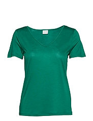 VINOEL S/S V-NECK T-SHIRT- FAV - PEPPER GREEN