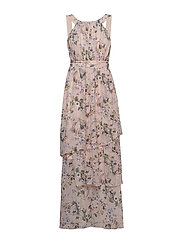 VINOLA S/L MAXI LAYER DRESS/ZA - ROSE SMOKE