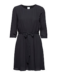VILUCY 3/4 SLEEVE DRESS - BLACK