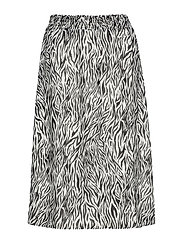 VINEMA ZEENA HW MIDI SKIRT/RP - CLOUD DANCER