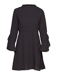 VISARINA L/S PEARL DRESS - BLACK