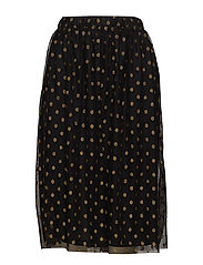 VIGOLDDOT MIDI SKIRT - BLACK