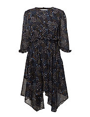 VISELMINA 3/4 SLEEVE DRESS /RX - DARK NAVY