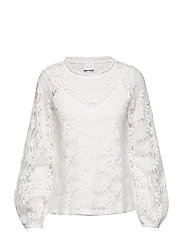 VIMAGINA L/S LACE TOP - CLOUD DANCER