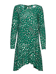 VIATTA PARDAS L/S DRESS - PEPPER GREEN