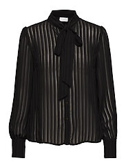 VIADDIE L/S BOW SHIRT/1 - BLACK