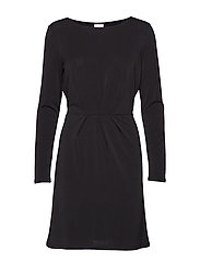 VICLASSY L/S DETAIL DRESS - NOOS - BLACK