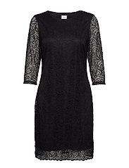 VIBLOND 3/4 SLEEVE DRESS - NOOS - BLACK