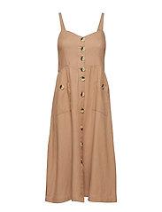 VIKALUNA DRESS TB/KI - SOFT CAMEL