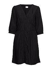VISHALI 3/4  DRESS EXC1 - BLACK