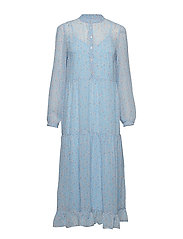 VIFORA L/S ANKLE DRESS - POWDER BLUE