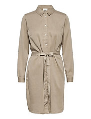 VIBISTA DENIM BELT DRESS/SU - - SIMPLY TAUPE