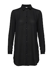 VILUCY BUTTON  L/S TUNIC - NOOS - BLACK