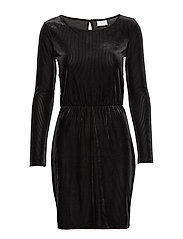 VIBIANA L/S DRESS/KI - BLACK