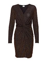 VIDANCE L/S DRESS/DES - BLACK