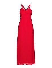 VITULINA PLAIN S/L MAXI DRESS/L - RACING RED