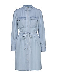 VIGIA L/S SHIRT DRESS/L - LIGHT BLUE DENIM