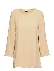 VIRASHA NEW 3/4 TOP/L - SESAME