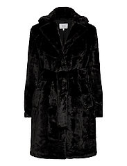 VIBODA NEW FAUX FUR COAT/PB/SU - BLACK