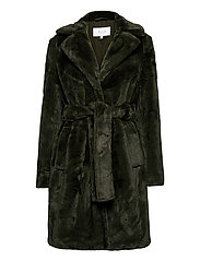 VIBODA NEW FAUX FUR COAT/PB/SU - FOREST NIGHT