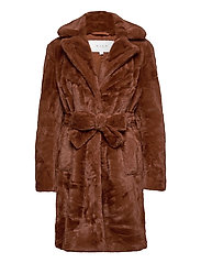 VIBODA NEW FAUX FUR COAT/PB/SU - TORTOISE SHELL