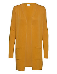 VIBOLONSIA KNIT POCKET L/S CARDIGAN TB - MINERAL YELLOW