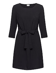 VIRASHA 3/4 DRESS - BLACK