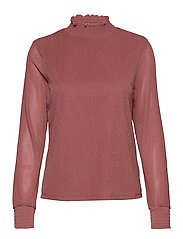 VIDAVIS  L/S GLITTER TOP /RX - ROSE DAWN