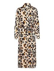 VIJOLIE AOP L/S SHIRT DRESS - NOMAD