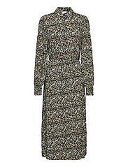 VITENDI FUNKEL L/S SHIRT DRESS/OFW - BLACK