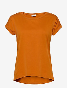 VIDREAMERS PURE T-SHIRT-NOOS - basis t-shirts - pumpkin spice