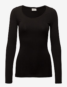 VIOFFICIEL NEW  L/S TOP - NOOS - langærmede toppe - black