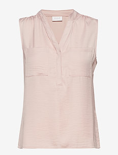 VIMELLI S/L POCKET TOP/SU - NOOS - Ærmeløse bluser - rose smoke
