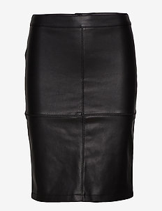 VIPEN NEW COATED SKIRT - NOOS - midi skirts - black