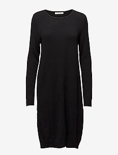 VIRIL L/S KNIT DRESS - NOOS - sukienki dzianinowe - black
