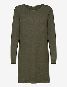 VIRIL L/S KNIT DRESS - NOOS - knitted dresses - forest night