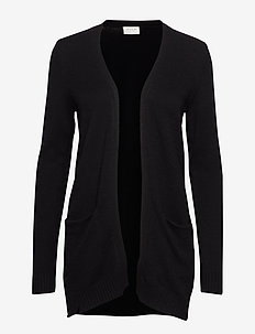 VIRIL OPEN L/S KNIT CARDIGAN - NOOS - cardigans - black