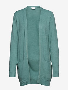 VIRIL L/S OPEN KNIT CARDIGAN-NOOS - OIL BLUE