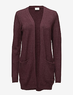 VIRIL L/S OPEN KNIT CARDIGAN-NOOS - WINETASTING