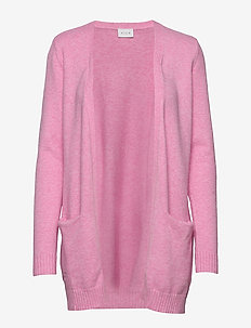 VIRIL OPEN L/S  KNIT CARDIGAN-FAV - BEGONIA PINK