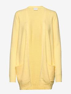 VIRIL OPEN L/S  KNIT CARDIGAN-FAV - koftor - mellow yellow