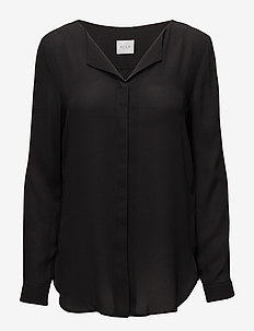 VILUCY L/S SHIRT - NOOS - long sleeved blouses - black