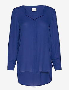 VILUCY L/S SHIRT - NOOS - long sleeved blouses - mazarine blue